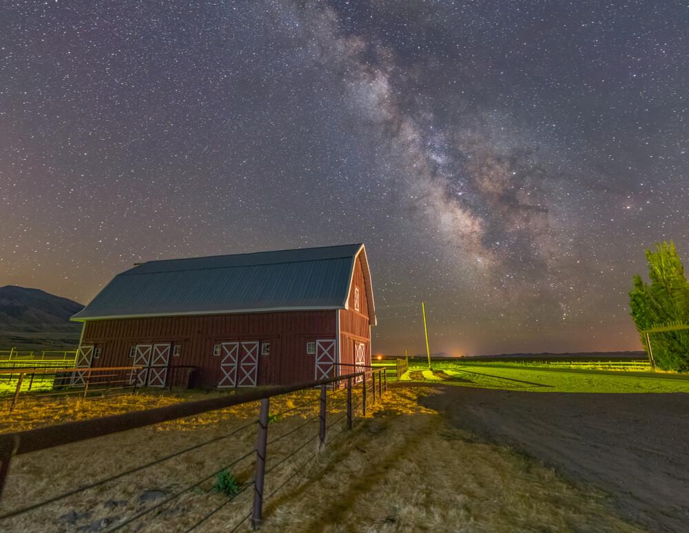 Barn and farm